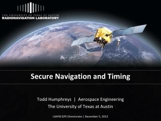 Secure Navigation and Timing