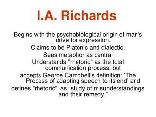 I.A. Richards
