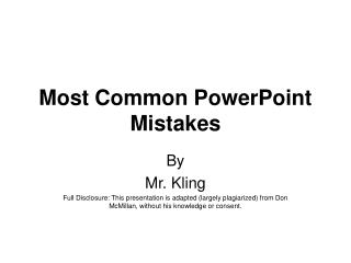 Most Common PowerPoint Mistakes