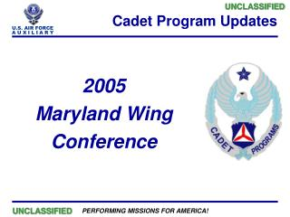 Cadet Program Updates