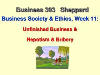 Business 303   Sheppard