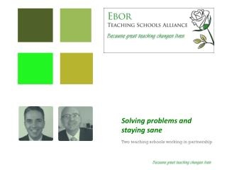 Solving problems and staying sane