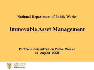 National Department of Public Works Immovable Asset Management