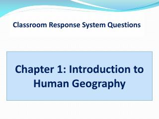 Classroom Response System Questions