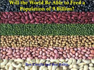 Will the World Be Able to Feed a Population of 9 Billion?
