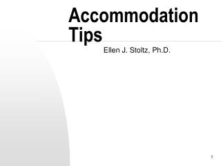 Accommodation Tips