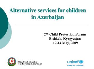 Alternative services for children in Azerbaijan
