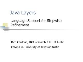 Java Layers
