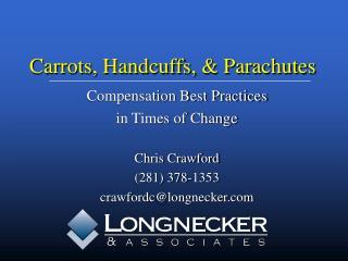 Carrots, Handcuffs, & Parachutes