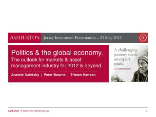 Jersey Investment Presentation – 23 May 2012