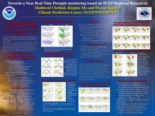 Towards a Near Real Time Drought monitoring based on NCEP Regional Reanalysis