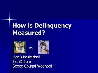 How is Delinquency Measured?