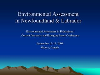Environmental Assessment  in Newfoundland & Labrador