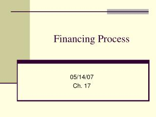 Financing Process