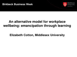 Birkbeck  Business Week