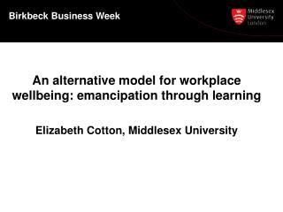 Birkbeck  Business Week