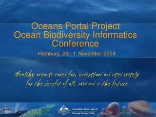 Oceans Portal Workshop 30 th  March 2004