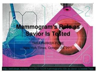 Mammogram's Role as Savior Is Tested