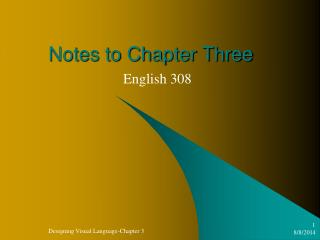Notes to Chapter Three
