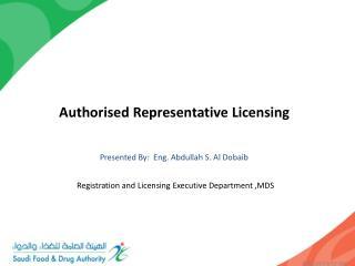 Authorised Representative Licensing