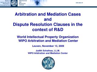 Mediation, (Expedited) Arbitration and Expert Determination
