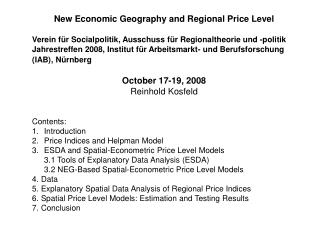 New Economic Geography and Regional Price Level