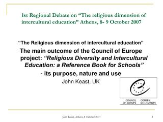"""The Religious dimension of intercultural education"""