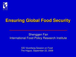 Ensuring Global Food Security