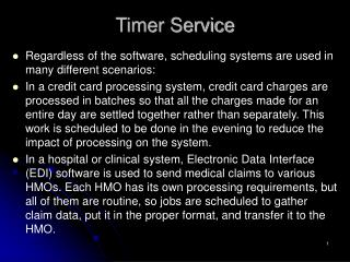 Timer Service
