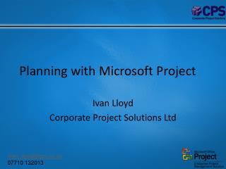 Planning with Microsoft Project