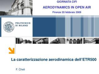 La caratterizzazione aerodinamica dell'ETR500