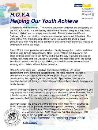 H.O.Y.A. Helping Our Youth Achieve