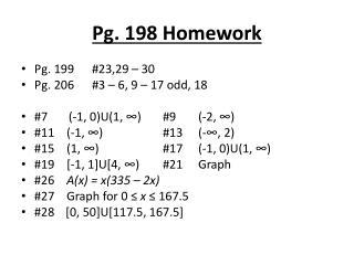 Pg. 198 Homework