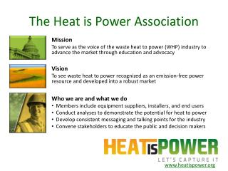 The Heat is Power Association