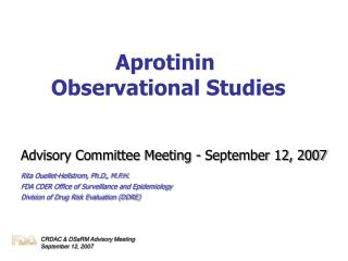 Aprotinin  Observational Studies
