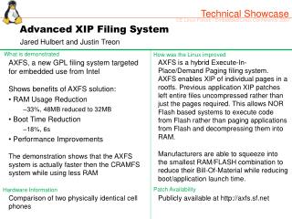 Advanced XIP Filing System