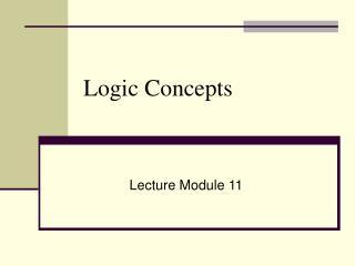 Logic Concepts