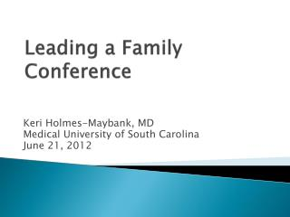Leading a Family Conference