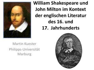 Martin Kuester Philipps-Universität Marburg