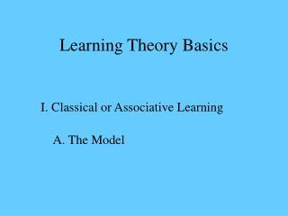 Learning Theory Basics
