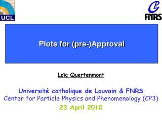 Plots for (pre-)Approval