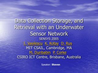 Data Collection Storage