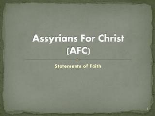 Assyrians For Christ (AFC)