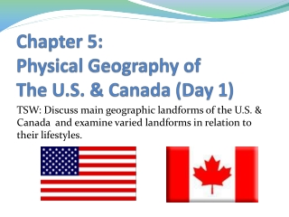 Physical Geography  of the U.S.