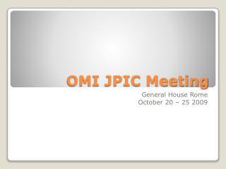 OMI JPIC Meeting