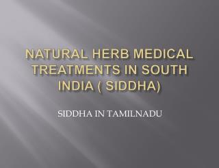 NATURAL HERB MEDICAL TREATMENT