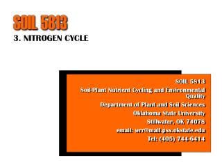 3. NITROGEN CYCLE