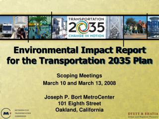 Environmental Impact Report for the Transportation 2035 Plan