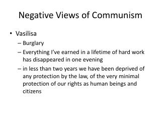 Negative Views of Communism