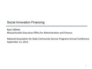 Social Innovation Financing
